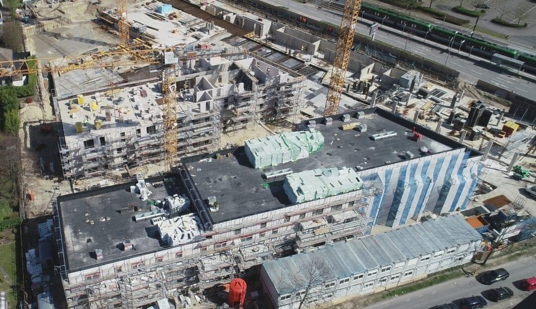 Drohnenaufnahmen Lahe-Quartier in Hannover