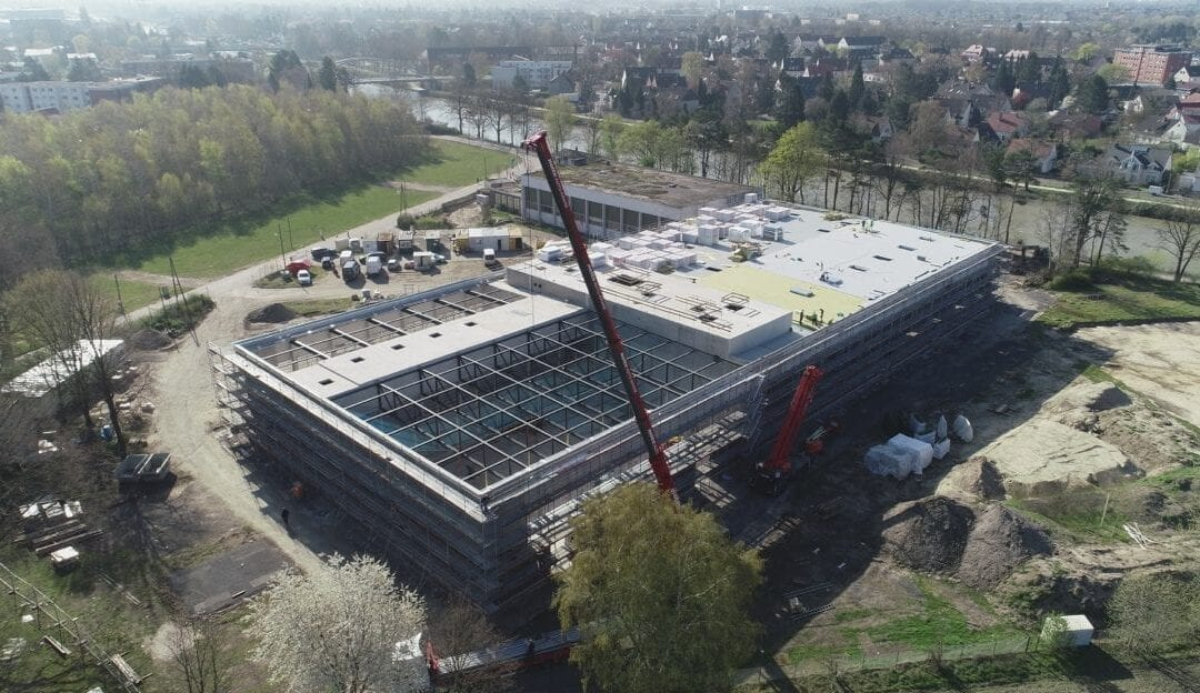 Luftbildaufnahmen Sporthalle TuS-Vinnhorst in Hannover