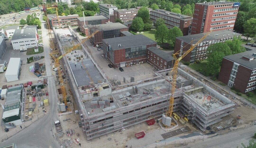 MBN-Luftaufnahmen Neubau TÜV NORD Zentralgebäude in Essen