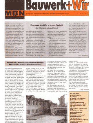 1. Ausgabe der Bauwerk+Wir erscheint