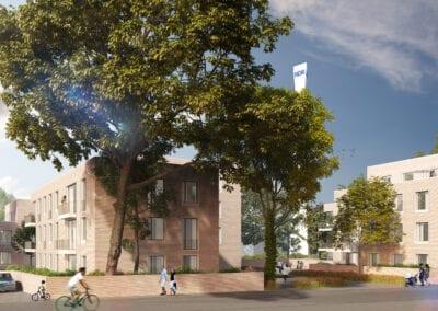 Neubau von drei Wohngebäuden in Hannover