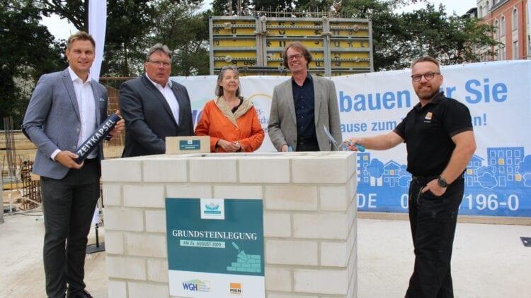Grundsteinlegung Neubau Wohnanlage in Hannover