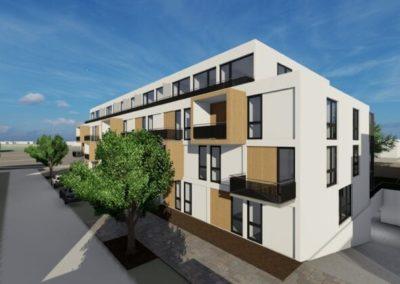 Drei Mehrfamilienhäuser für die Stadt Brühl in Holzmodulbauweise