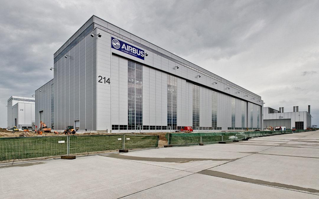 Airbus Flightlinehangars in Hamburg-Finkenwerder