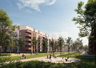 Neubau Stadtquartier maxfrei in Düsseldorf