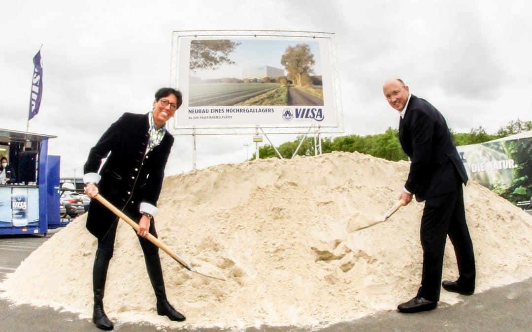 Symbolischer Spatenstich für Vilsa Hochregallager in Bruchhausen-Vilsen