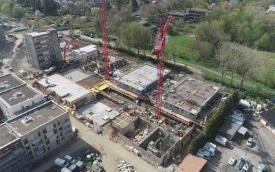 MBN-Luftbildaufnahmen Neubau Wohnanlage in Bonn