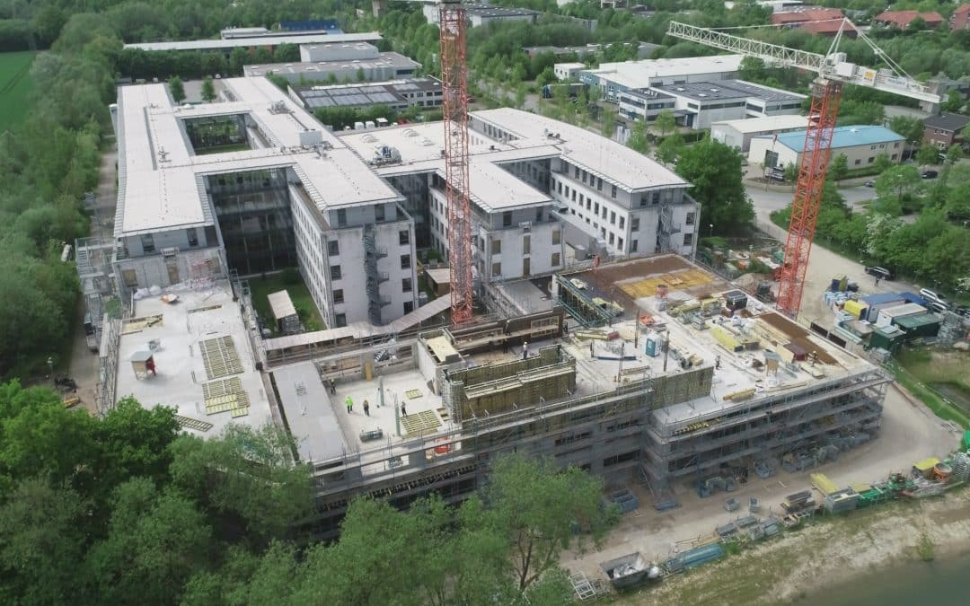 MBN-Luftbildaufnahmen Neubau Bürogebäude Basler AG