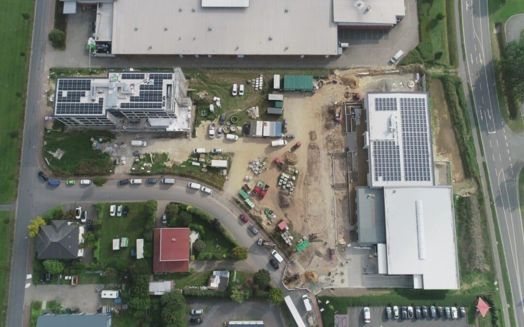 MBN-Luftbildaufnahmen Neubau ithub und Küchenstudio LOSING in Bissendorf